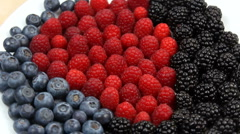 Berry Fruit Vivid Colors Close Up Stock Footage