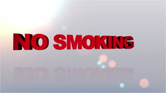NO Smoking Desires Button - HD1080 Stock Footage