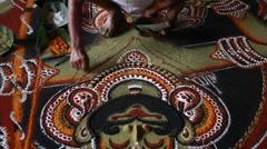 Kalamezhuth-floor decoration - stock footage