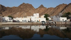 Buldings in Mutrah, the old part of Muscat, Oman Stock Footage
