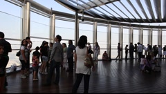 At the Top - the observation deck of Burj Khalifa, Dubai Stock Footage