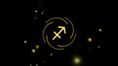 sagittarius - stock footage