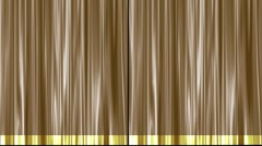 Gold Theater Stage Curtain Pulled Open from Sides | Natural Motion Stock Footage