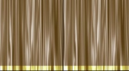 Stock Video Footage of Gold Theater Stage Curtain Pulled Open from Sides | Natural Motion