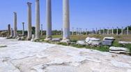 The gymnasium in Salamis, Famagusta aeria, North Cyprus Stock Footage