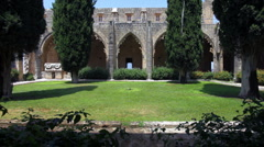 Bellapais Abbey of Premonstratensian order (13th c.), Kyrenia, North Cyprus Stock Footage