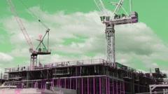 Punk cranes. Closeup. Timelapse. Stock Footage
