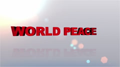 World Peace Desires Button - HD1080 Stock Footage