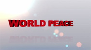 Stock Video Footage of World Peace Desires Button - HD1080