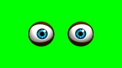 Cartoon eyes Stock Footage