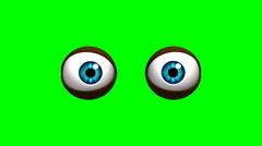 Stock Video Footage of cartoon eyes