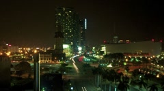 Bustling Biscayne Blvd at night, timelapse - stock footage