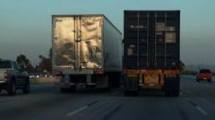 5fwy trucks dangerous trucks - stock footage