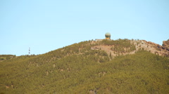 Radar station on a mountain top Stock Footage