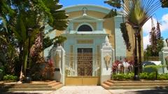 Puerto Rico: 1772 Hispanic Historic Colonial Era Catholic Cathedral V1 Stock Footage