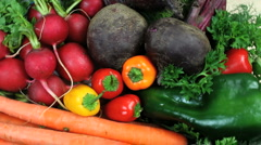 Healthy Vegetables Close Up - stock footage