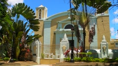 Puerto Rico: 1772 Hispanic Colonial Era Historic Catholic Cathedral V2 Stock Footage