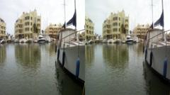 Sailboat marina Spain 3D HD.mp4 Stock Footage