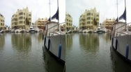 Sailboat marina Spain 3D HD.mp4 Stock Footage