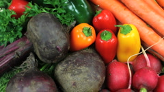 Healthy Meal Ingredients Close Up Stock Footage