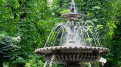 Fountain Park at the Mariinsky Stock Footage