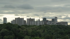 Toronto apartments. Dramatic Timelapse. 25fps. Stock Footage