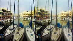 Benal Spain Marina 3D HD.mp4 Stock Footage