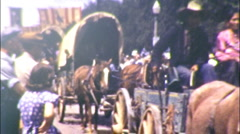 Native American Indians on Parade Circa 1943 (Vintage Film 8mm Home Movie) 76 Stock Footage