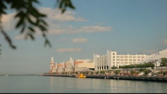 Chicago's Navy Pier Tight Pan Stock Footage