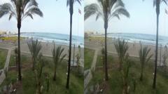 Beach palms Benal Spain 3D HD.mp4 Stock Footage