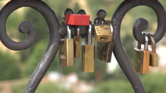 The locks of love Stock Footage