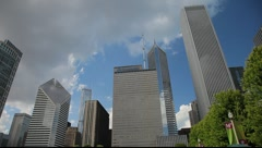 Chicago's Cloud Gate Sculpture on the Downtown Waterfront - stock footage