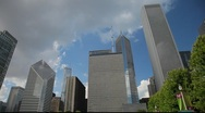 Chicago's Cloud Gate Sculpture on the Downtown Waterfront Stock Footage