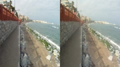 Beach Benal Spain 3D HD.mp4 Stock Footage