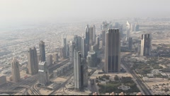 Aerial view of Dubai skycrapers Stock Footage