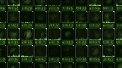 Monitor radar Stock Footage