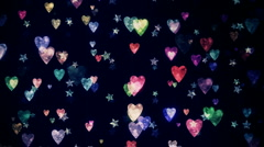 Hearts and Stars Stock Footage