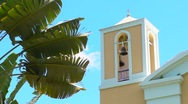 Stock Video Footage of Catholic Church Bell Tower V2