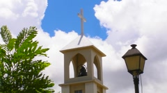Protestant Church Bell Tower V2 Stock Footage