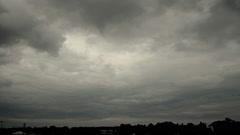 Tumma Thunder Clouds (timelapse) Arkistovideo