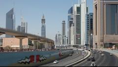 Sheikh Zayed Road in Dubai, United Arab Emirates Stock Footage