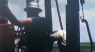 Men Work on Oil Platform Well Derrick GAS Industry Vintage Film Home Movie 5 Stock Footage