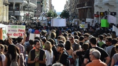 Occupy Spain protest Stock Footage