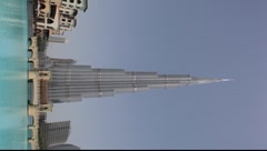 Burj Khalifa - highest building of the world Stock Footage