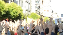 Protest Spain Stock Footage