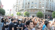 Stock Video Footage of Occupy Spain protest