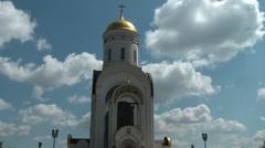 Shrine of St. George on Poklonnaya Hill 2 Stock Footage