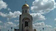 Stock Video Footage of Shrine of St. George on Poklonnaya Hill 2