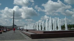 Fountains In The Park 2 Stock Footage