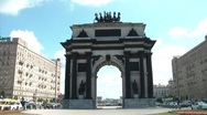 Stock Video Footage of Moscow Triumphal Gates Time Lapse